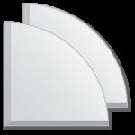 veidrodines plyteles 10x10 apskritis
