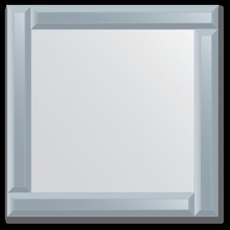 Veidrodis su veidrodiniu rėmu 50x50