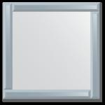 Veidrodis su veidrodiniu rėmu 60x60