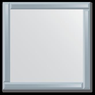 Veidrodis su veidrodiniu rėmu 70x70 cm