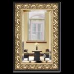 veidrodis su remu auksinis