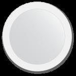 apvalus vonios veidrodis