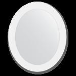 ovalus vonios veidrodis